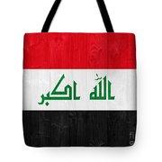 Iraq Flag Tote Bag by Luis Alvarenga