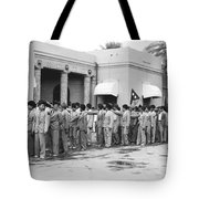 Iraqis Salute King Faisal Tote Bag