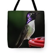 Iridescent Purple Headed Costa Tote Bag