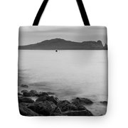 Ireland's Eye In Black And White Tote Bag