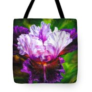Iridescent Iris Tote Bag