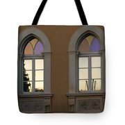 Iridescent Pastels At Sunset - Syracuse Arched Windows Tote Bag