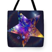 Iridescent Star Tote Bag
