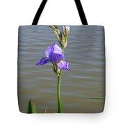 Iris At The Lake Tote Bag