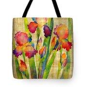 Iris Elegance On Yellow Tote Bag