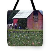 Iris Field And Barn Tote Bag