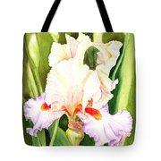 Iris Flower Dancing Petals Tote Bag
