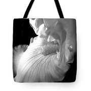 Iris Flower In Black And White Tote Bag