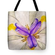 Lily Flower Macro Photography Tote Bag