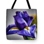 Iris Flower Macro Tote Bag