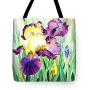 Iris Flowers Garden Tote Bag