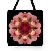 Iris Germanica Flower Mandala Tote Bag by David J Bookbinder