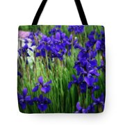 Iris In The Field Tote Bag
