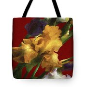 Iris In The Rough Tote Bag