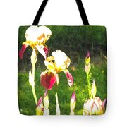 Iris In Watercolor Tote Bag