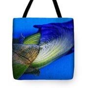 Iris On Blue Tote Bag