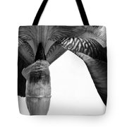 Iris Textures In Black And White Tote Bag