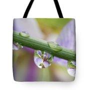 Iris Versicolor Reflection Tote Bag