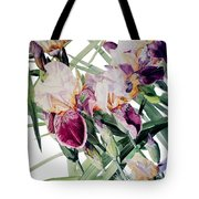 Watercolor Of Tall Bearded Irises I Call Iris Vivaldi Spring Tote Bag