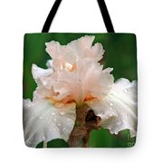 Iris With Dewdrops Tote Bag