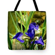 Iris With Frog Tote Bag