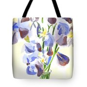Irises Aglow Tote Bag by Kip DeVore