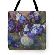 Irises Tote Bag by Diane McClary