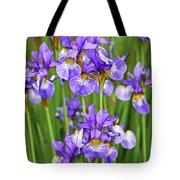 Irises Tote Bag by Elena Elisseeva