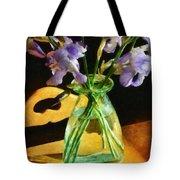 Irises In Morning Light Tote Bag