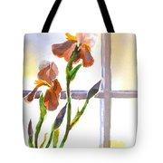 Irises In The Window Tote Bag