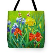 Irises On The West Lawn 1 Tote Bag