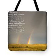 Irish Blessing Double Rainbow 07 11 14 Tote Bag