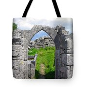 Irish Church Ruins Tote Bag