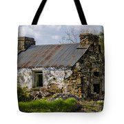 Irish Cottage Ruins Tote Bag