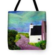 Irish Cottage With Cat Tote Bag