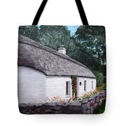 Irish Thatched Cottage Tote Bag