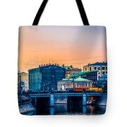 Iron Bridge Panorama Tote Bag