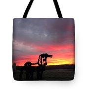 Iron Horse Waiting Tote Bag