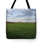 Great Friends Iron Horse Wheat Field And Silos Tote Bag