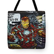 Iron Man Graffiti Tote Bag