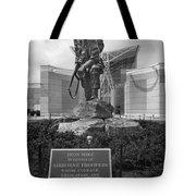 Iron Mike - Black And White Tote Bag