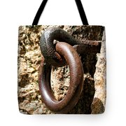 Iron Rings In Stone Tote Bag by William Selander