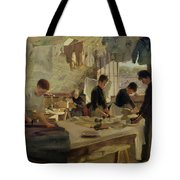 Ironing Workshop In Trouville Tote Bag