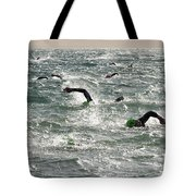 Ironman 2012 Sheer Determination Tote Bag by Bob Christopher