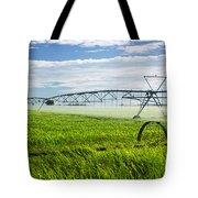 Irrigation On Saskatchewan Farm Tote Bag by Elena Elisseeva