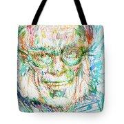 Isaac Asimov Portrait Tote Bag
