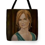 Isabelle Huppert Painting Tote Bag