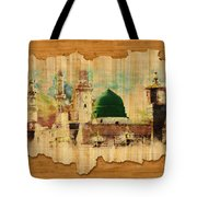 Islamic Calligraphy 040 Tote Bag by Catf