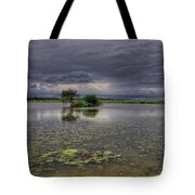 Island And Flowers Tote Bag