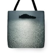 Lugu Lake Island And Ripples China Tote Bag